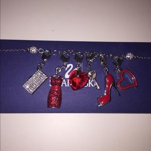 Swarovski Jewelry - Swarovski Charm Bracelet with 6 Charms